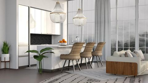 Modern Jungle Kitchen - Kitchen  - by millerfam