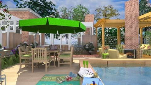 Afternoon BBQ - Modern - Garden  - by Bibiche