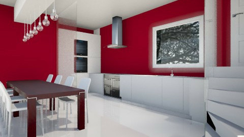 Red Kitchen - Glamour - Kitchen  - by camilla_saurus