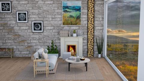Gloomy Living - Living room  - by lyrikkah
