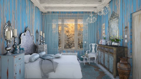 Renaissance in blue  - Country - Bedroom - by Ida Dzanovic