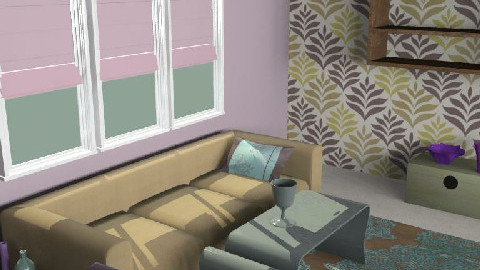 A Room purp1 - Retro - Living room  - by ani_kapanova