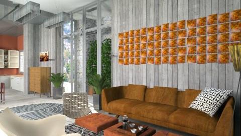 stone steel green2 - Modern - Living room  - by macus