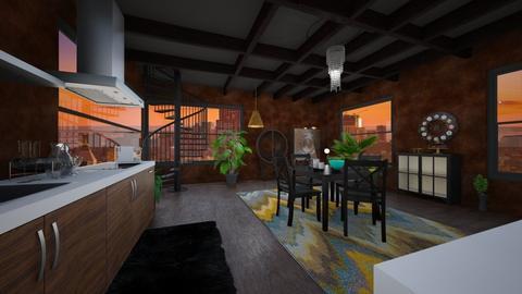 new york loft 3 - Dining room  - by Lana_Sophie22