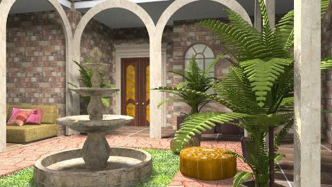 Courtyard - Rustic - Garden  - by chania