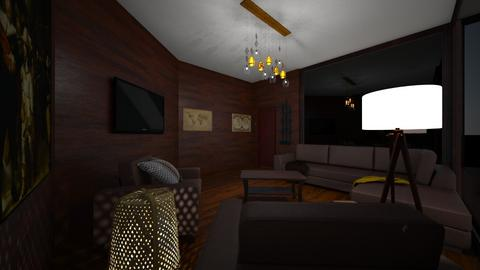 Trendy  - Rustic - Living room  - by BigG122
