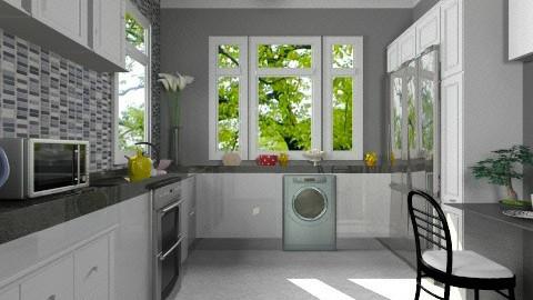 Gray  dream - Kitchen  - by sasalex88