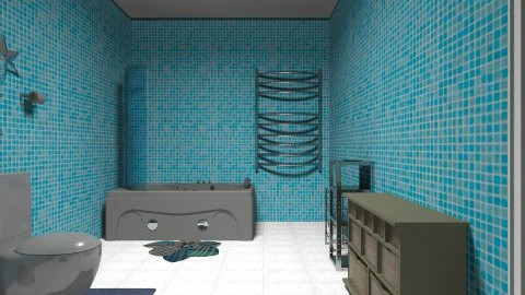 blue lovers - Minimal - Bathroom  - by emanuela94