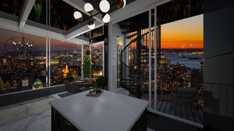 new York penthouse - Glamour - Living room  - by mood_scorpio
