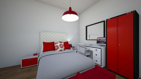quarto vermelho - Glamour - Bedroom  - by gabrieli13