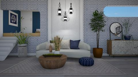 Bold Wallpaper_contest - Living room  - by Nicky West
