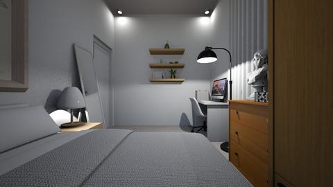 minimalist bedroom - Minimal - Bedroom  - by dindin01