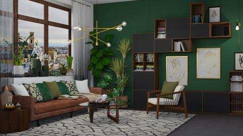 Green and Gold - Modern - Living room  - by katarina_petakovi