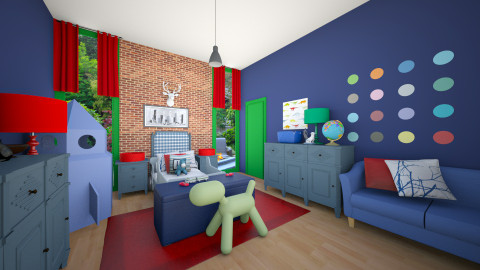 Boy Blue  - Eclectic - Kids room  - by CreativeCE
