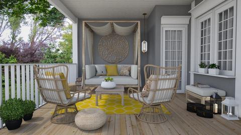 Wooden porch - Garden  - by Thrud45