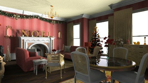 TRADITIONAL CHRISTMAS - Classic - Living room  - by mywishlr