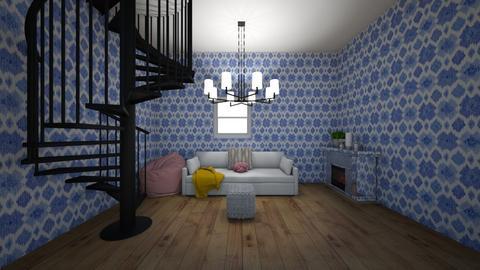 blue living room - Modern - by vhernandezzz