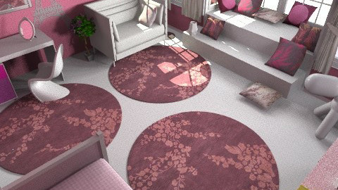 Pink bedroom 8 - Modern - Kids room  - by Gubacsi Judit
