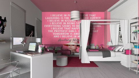 Teenage girl room - Kids room - by annasig