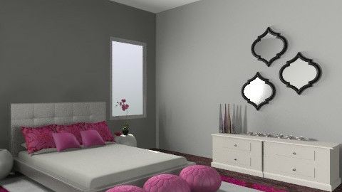 mod pink - Modern - Bedroom - by shotzydog