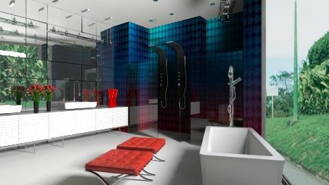 banheiro papel de parede - Classic - Bathroom - by Talles Paganotti