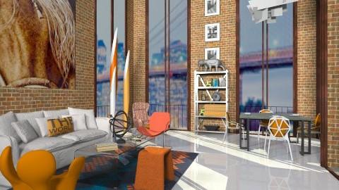 Orange11 - Modern - Living room  - by AlSudairy S