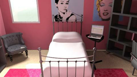 "My Sister's ""Ideal"" Room  - Retro - Bedroom  - by kblossey"