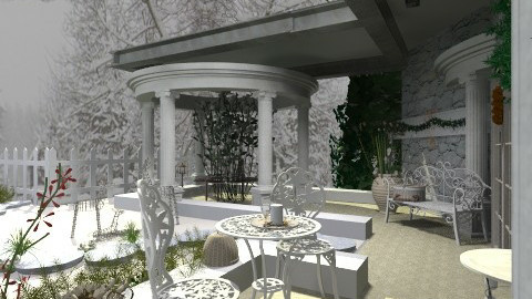 snowygarden - Classic - Garden  - by Leanora Stewart