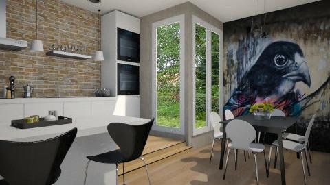 Graffiti kitchen - Modern - Kitchen  - by Tuija
