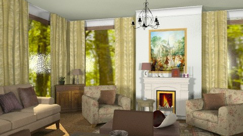 Family rooms_x - Classic - Living room  - by milyca8
