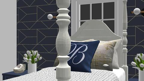 Blue and white house - Glamour - by designer408340284