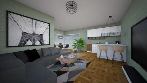 For annarmengou94_Apt C - Eclectic - Living room - by Theadora
