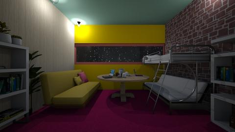 3PersonFutonSleeper - Bedroom  - by PAPIdesigns