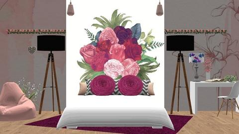 Plum Roses - Bedroom  - by Simone C