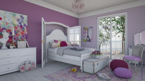 Paris in Spring - Feminine - Bedroom - by R2krw09