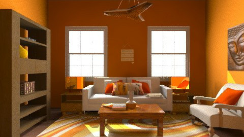 Orange  - Glamour - Living room - by 89dudes