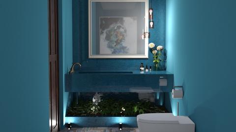 Blu - Bathroom  - by yonvie