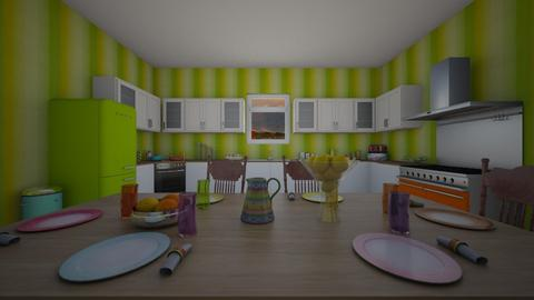colorful kitchen - by and_sew_on