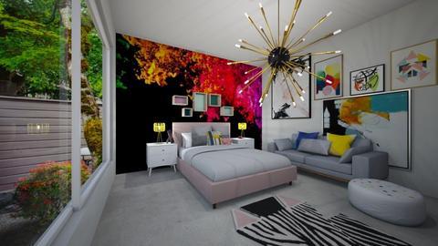 The artist room - Bedroom  - by llamaperson