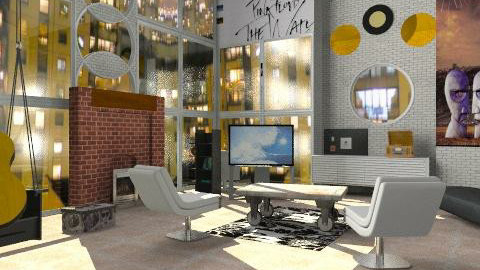 Brick in the wall - Modern - Bedroom  - by liling