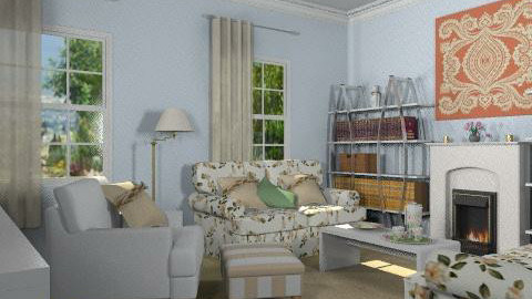 floral chinzt3 - Country - Living room - by auntiehelen