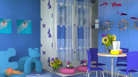 blue - Classic - Living room  - by asifgoldpk