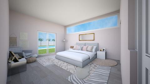 Boho modern bedroom - Bedroom - by horsebunny9