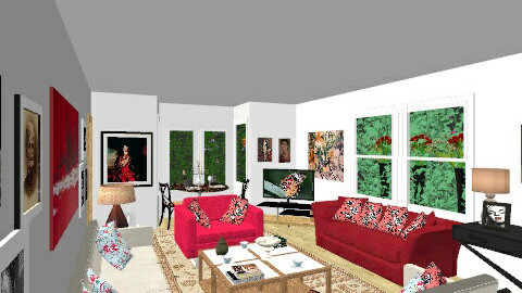 Talbot road 2 - Living room - by cleyenne