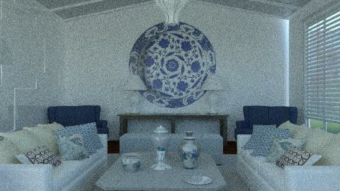 Blue & white china - Eclectic - Living room  - by du321