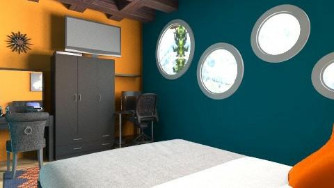 Casual basement room - Rustic - Bathroom  - by shae5727