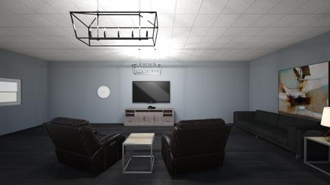 My Real Basement - Modern - Living room  - by Charginghawks