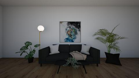 black n white - Living room  - by madaline