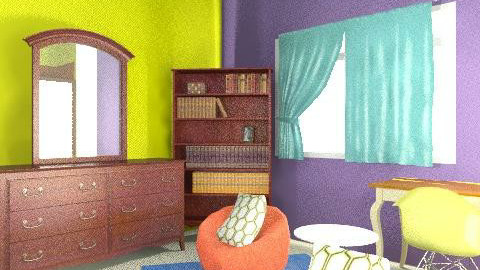 Cassie's Room - Vintage - Bedroom  - by twindeco