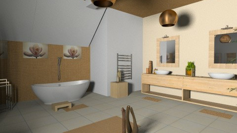 Relaxing Thailand bath - Minimal - Bathroom  - by zarky